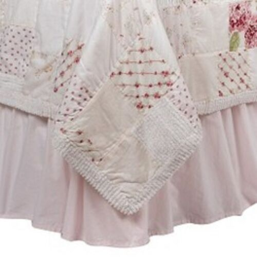 Simply Shabby Chic Bedskirt Pink Cottage New WOT 100/% Cotton 15 in drop
