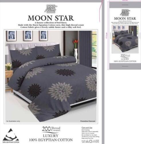 Egyptian Cotton Duvet Cover Set 200TC Quilt Bedding Set+Pillow Cases /& bed Sheet