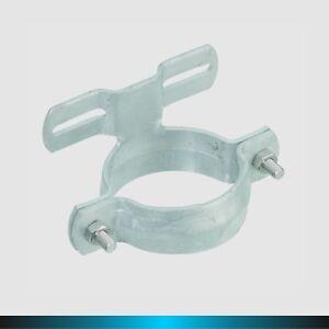 Rohrschelle-Schelle-Halterung-aus-Stahl-verzinkt-Pfosten-6-oder-7-6-cm-m-Steg