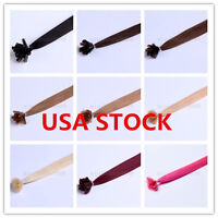 Usa Stock Full Head Indian Remy 24inch Nail Tip Human Hair Extensions,100s,1g/s