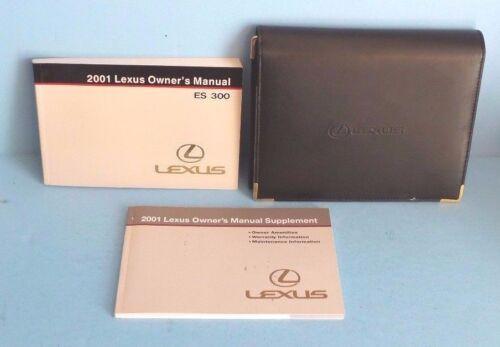 01 2001 Lexus ES 300//ES300 owners manual