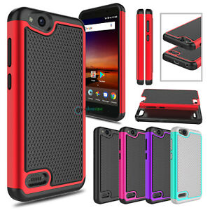online retailer 3cb26 04e4b Details about For ZTE Avid 4 /Z855 Phone Case Hybrid Shockproof Rugged  Rubber Hard Armor Cover