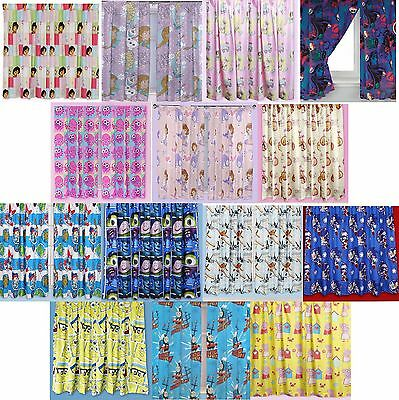 "Openhartig Disney Childrens Kids Boys Girls Novelty Bedroom Curtains 66""x72"" 168cm X 183cm"