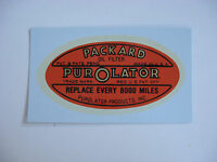 1928 - 1939 Packard Oil Filter Canister Decal