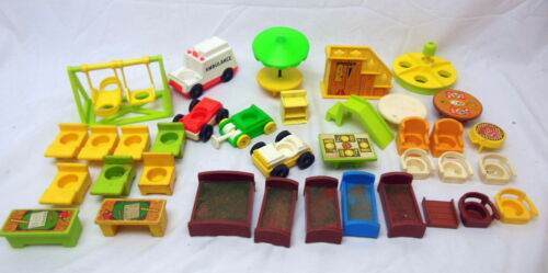 1A Fisher Price Lttle People Accessories Furniture Vehicles Playground Etc 36pc