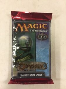Magic The Gathering Odyssey Booster Pack MTG  Un-searched 2 pack lot