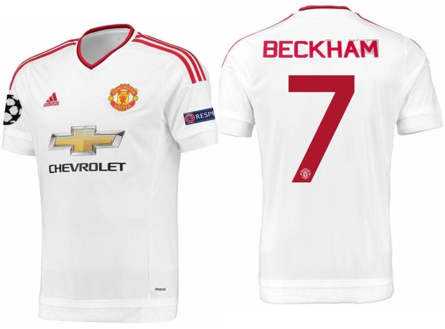 Adidas David Beckham Manchester United Liga de Campeones Away Jersey 2015 16