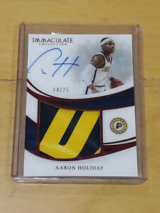 2018-Immaculate-Aaron-Holiday-RC-Auto-True-RPA-2-Clr-Patch-25-Top-Card-Rookie