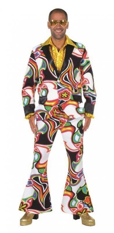 Disco Disco Disco Anzug Kostüm Herren 70er 80er Jahre Hippie Party Partyanzug Partykostüm | Geeignet für Farbe  2c6301