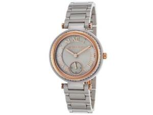 28b4253f87d5 Michael Kors Mini Skylar Grey Dial Ceramic Ladies Watch MK6241 gift ...