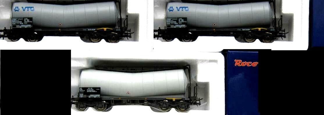 ROCO 67219 67221 67228 3x gomito CALDAIA carrello 2x VTG SNCB + ATIR SNCF ep.5 NUOVO OVP