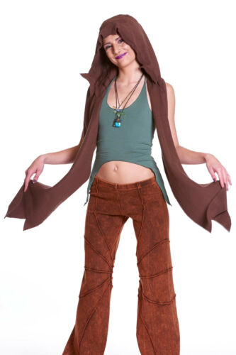Elf Pixie Scarf Hippy Festival Psy Trance Clothing Hooded Hippie Fleece Scarf