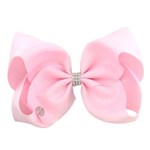 Handmade JOJO SIW Bow Hair Clip Alligator Clips Girls Ribbon Kids Sides Headwear