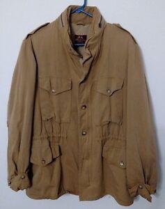 Willis-amp-Geiger-Ranger-Safari-Men-039-s-Hooded-Khaki-Jacket-Size-40-Free-Ship