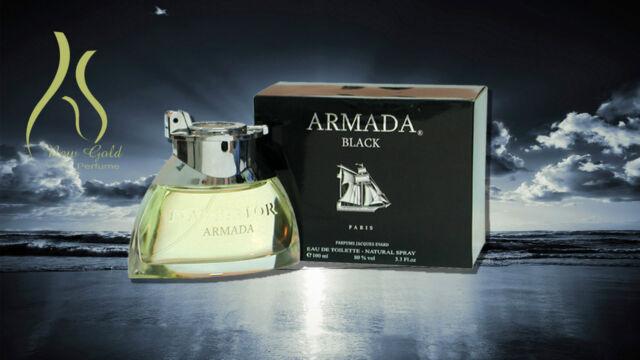Armada Black by Parfums Jacques Evard for Men 3.3 Oz Eau De Toilette Spray 637bc9da5ca