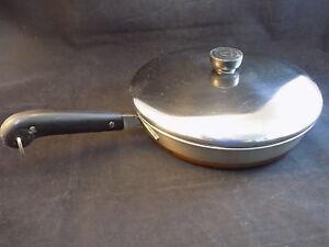 Revere Ware 10 Inch Skillet Vintage Copper Bottom Frying