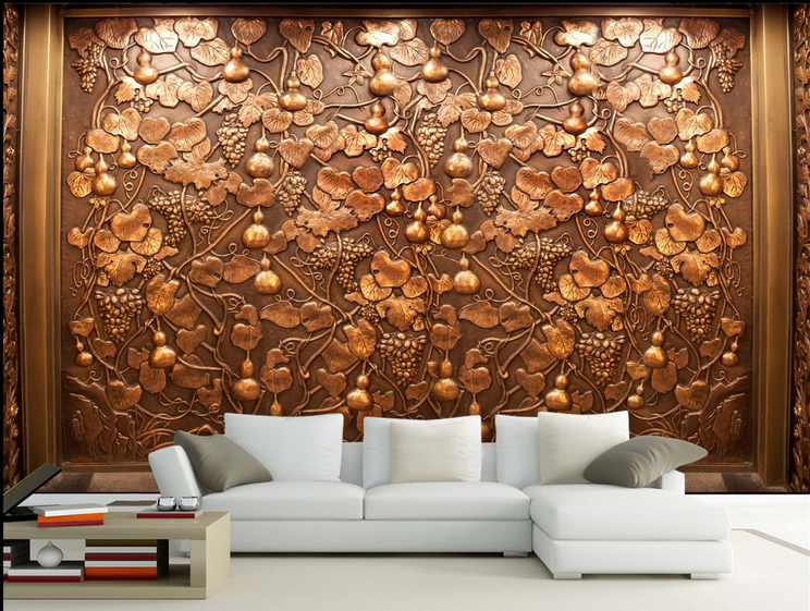 3D Golden Gourd Squid Paper Wall Print Wall Decal Wall Deco Indoor Murals