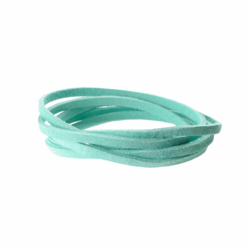 """by Realeather Made in USA Suede Craft Lace Aqua 1//8/"""" x 25 yds. 3.2 mm x 22.8 M"""