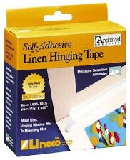 Lineco Self Adhesive Linen Hinging Tape 1.25 In. X 35 Ft. White Other Adhesives