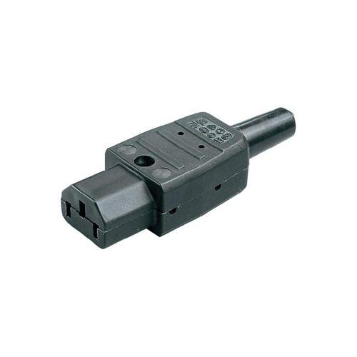 10 x Kaiser 794 Kaltgerätebuchse Kaltgerätestecker schwarz  IEC 320 C13 gerade