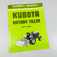 Kubota Fs850 Rotary Tiller Operators Owners Manual Maintenance