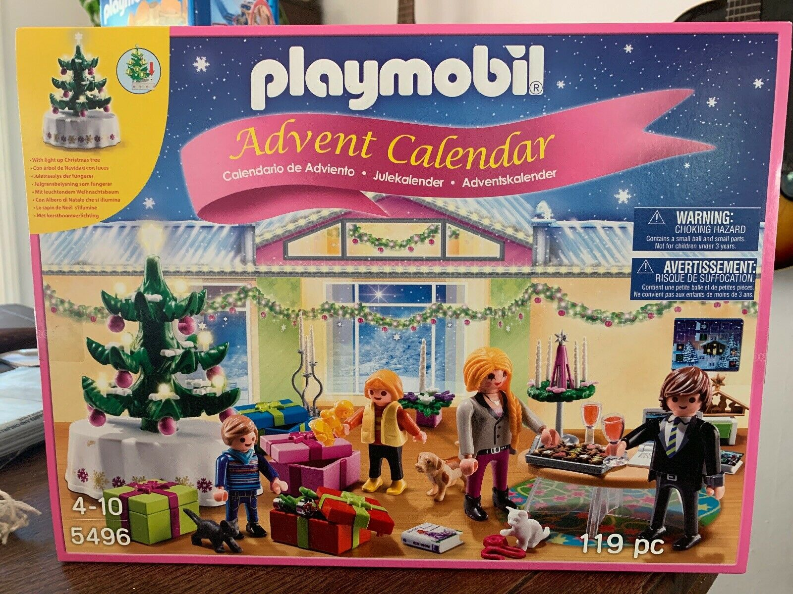 Advent Calendar Playmobil 5496-119 pc. +light up Christmas tree New Sealed
