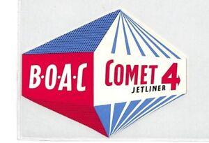 Intelligent Ce54 Boac Vol étiquette-afficher Le Titre D'origine Apparence Attractive