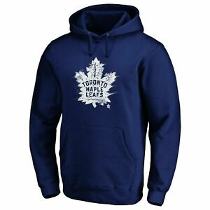 Fanatics-NHL-Men-039-s-Toronto-Maple-Leafs-Splatter-Logo-Hoody