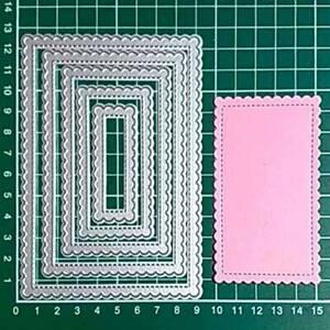 Slimline Wavy Framelits Cutting Dies Stencil for DIY Scrapbooking Paper Cards