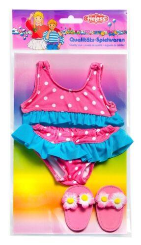 Babypuppen & Zubehör Puppen-Bikini mit Schläppchen Größe 35-45 cm Puppen & Zubehör