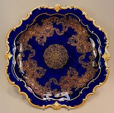 Fasto PIASTRA Reichenbach Piatto Oro COBALTO ORO ornamenti barocco 24kt 33cm