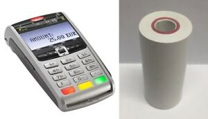 9M Long Barclaycard iWL251 With Round Back PDQ Thermal Till Rolls