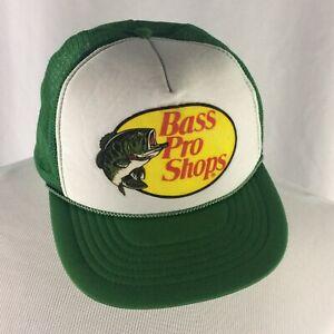 10a1c18906c76c Vintage Bass Pro Shops Mesh Trucker Hat Cap 90s Green Fishing ...