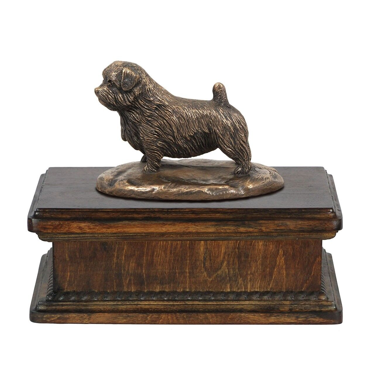 Norfolk Terrier - exclusive urn with dog statue, High Quality, Art Dog