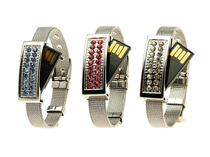 Crystal flash drive jewelry USB bracelet memory stick pen drive 4,8,16,32 GB