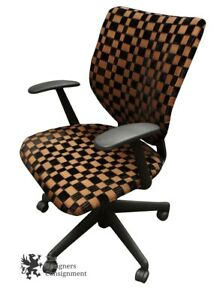 Amazing Details About Vtg Keilhauer Gold Black Checkered Office Chair Adjustable Rollaway Saints Caraccident5 Cool Chair Designs And Ideas Caraccident5Info