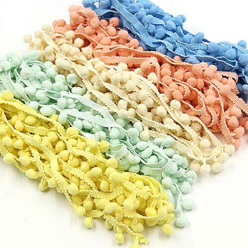 5Yards 20mm Pom Pom Trim Ball Fringe Ribbon Sewing Accessory Lace JS
