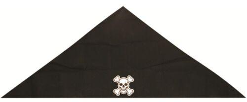 PIRATE FANCY DRESS SKULL /& CROSSBONES PRINT DESIGN BLACK PIRATE BANDANA U09 604