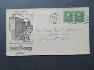 US-1923-Hotel-Majestic-Chicago-Cacheted-Cover-Used-Z7784