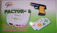 Factor 5 Video Game System + Light Gun + 5 Games Plays 8 Bit Nes Nintendo Games