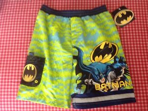 b0671f01c8 DC Comics BATMAN swim trunks mesh lined elastic waist boys size 6 | eBay