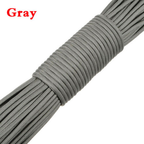100FT Portable Paracords Reel Guy Rope 7 Strand 550 Parachute Cord Sports NEW