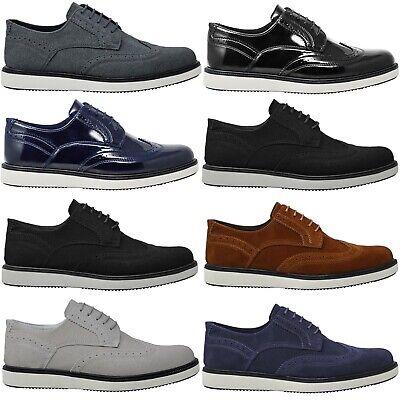100% QualitäT Mens Casual Grey Suede Party Black Designer Summer Brouges Smart Wedding Shoes Erfrischend Und Wohltuend FüR Die Augen