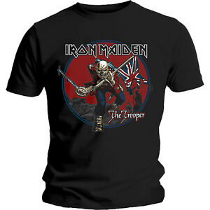 Iron-Maiden-Trooper-Red-Sky-T-Shirt-Official-Merchandise-M-L-XL-Neu