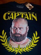 THE HANGOVER 2 ZACH GALIFIANAKIS CAPTAIN T-Shirt LARGE NEW w/ tag