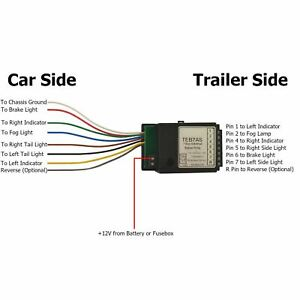 AB Tools-Maypole Trailer Caravan LED Light Fix Bypass Relay Towing Electrics Socket