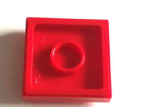 Jumper Konverter rot LEGO ® 100 Platten 2x2 mit Noppe in der Mitte