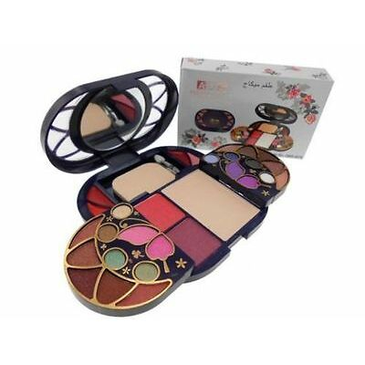 ADS 8088 FASHION COLOUR EYESHADOWS, BLUSH,  POWDER & GLOSS COMPLETE MAKEUP KIT-
