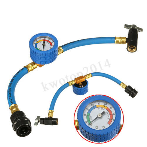 R-134a Recharge A//C Conditioning Refrigerant Measuring Gauge Hose with Can Tap