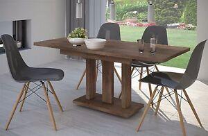 Esstisch modern design  Säulentisch nußbaum 110 cm edler Esstisch Holz ausziehbar modern ...